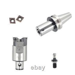 25-33mm Adjustable Rough Boring Head Tool LBK Mount, BT40 Milling Shank +Inserts