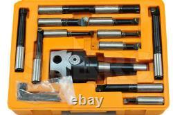 3 Boring head R8 Shank 12pcs Carbide Tipped 3/4 Boring Bar Set $151.00 OFF #