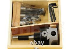4 Boring head R8 Shank + 6pcs Carbide Tipped Boring Bar Set Save $188.05 R