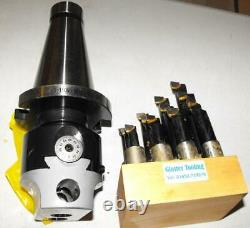 50 INT shank 75mm Boring Head and set of 12 carbide boring tools ISO M24 drawbar