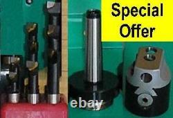 50mm Boring Head with 2 Morse shank and set of 9 12mm diameter tools 50mm 2MT