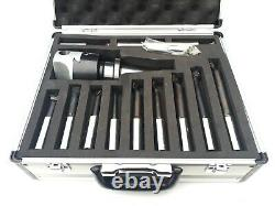 Amadeal 75mm Boring Head Set With ISO40 Shank 12pc Boring bars