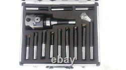 Amadeal 75mm Boring Head Set With R8 Shank 12pc Boring bars
