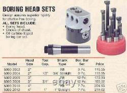 Boring Head Set 1 Shank 3 Diameter 12 Pc. Bars NEW