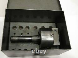 Bridgeport No. 2 R8 Shank Boring Head With Fitted Metal Case