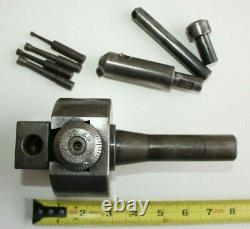 Bridgeport No. 2 boring head with Shank And Tooling. Bar Holder Holes