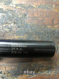 Criterion Boring Head DBL-202A 1 Diameter Shank 7/8-20 THD