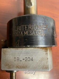 Criterion Dbl-204 Adjustable Boring Head 1-1/4 Shank