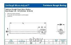 DeVlieg TSD Microbore MTP-36-SS 10 Twin-Bore Rough Boring Head 1 Shank Germany