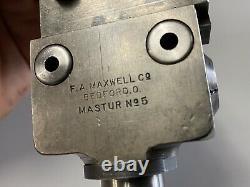 F A Maxwell Co. No. 5 Boring Head MT2 No. 2 Morse Taper Shank Bridgeport Mill