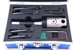 Indexable Tool Set With 2 Boring Head, R8 Shank & 4 Boring Bars (1001-0201)
