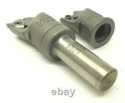 KAISER 10mm STEEL BORING BAR SHANK #615.217 with #E18 & #22 INSERT HOLDER HEADS