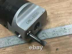 NICE CRITERION DBL 203 D BORING HEAD W. 3/4 CAP With CAT40 SHANK
