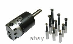 Rdg Tools 50mm Boring Head 3/4 Straight Shank 9pc Tools Milling Lathes Chuck