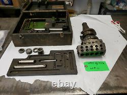 Wohlhaupter UPA5 s6 /7394 Boring Head & Accessories CAT 50 Shank, USED lot#11